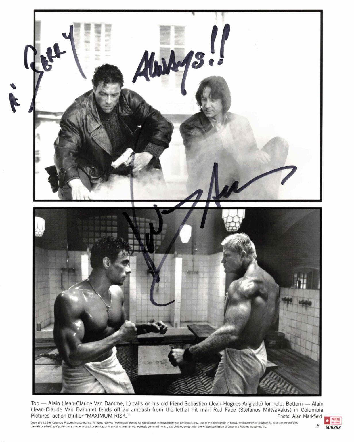 Jean-Claude van Damme - autogram
