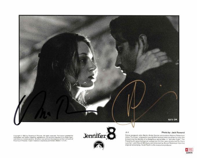 Uma Thurman & Andy Garcia - autogram