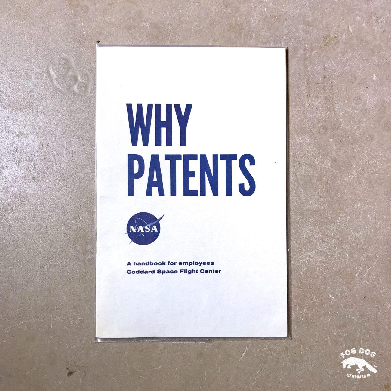 Brožura NASA - WHY PATENTS