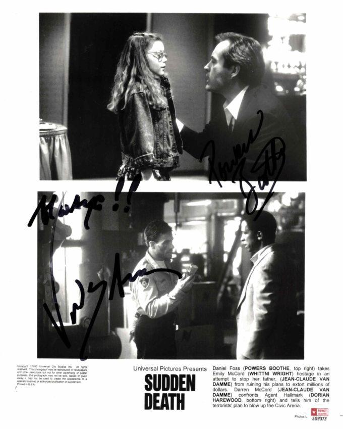 Jean-Claude van Damme & Powers Boothe - autogram