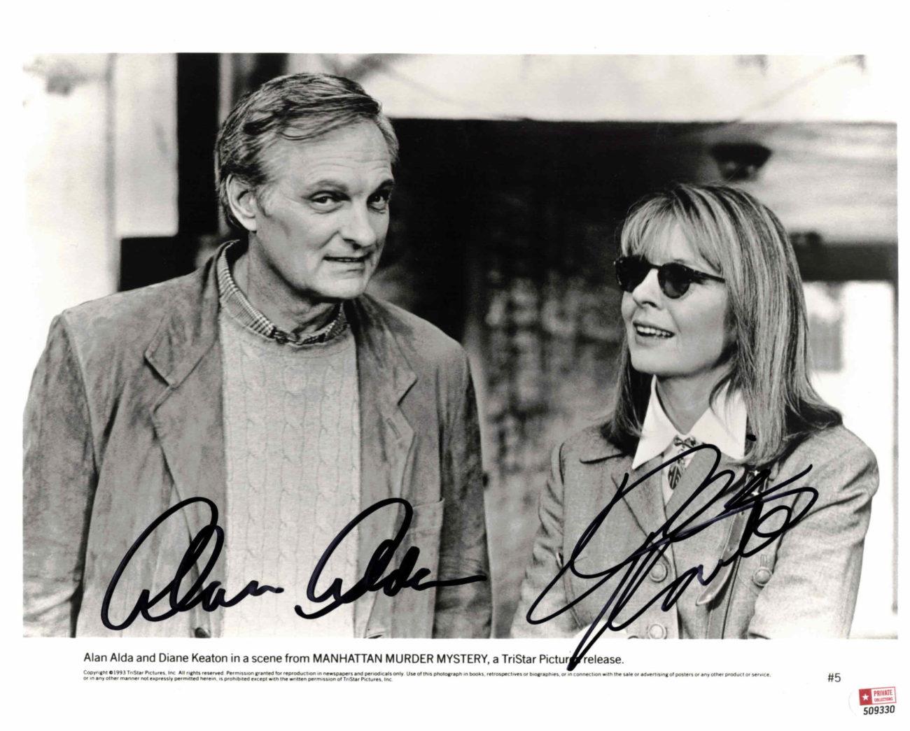 Alan Alda & Diane Keaton - autogram