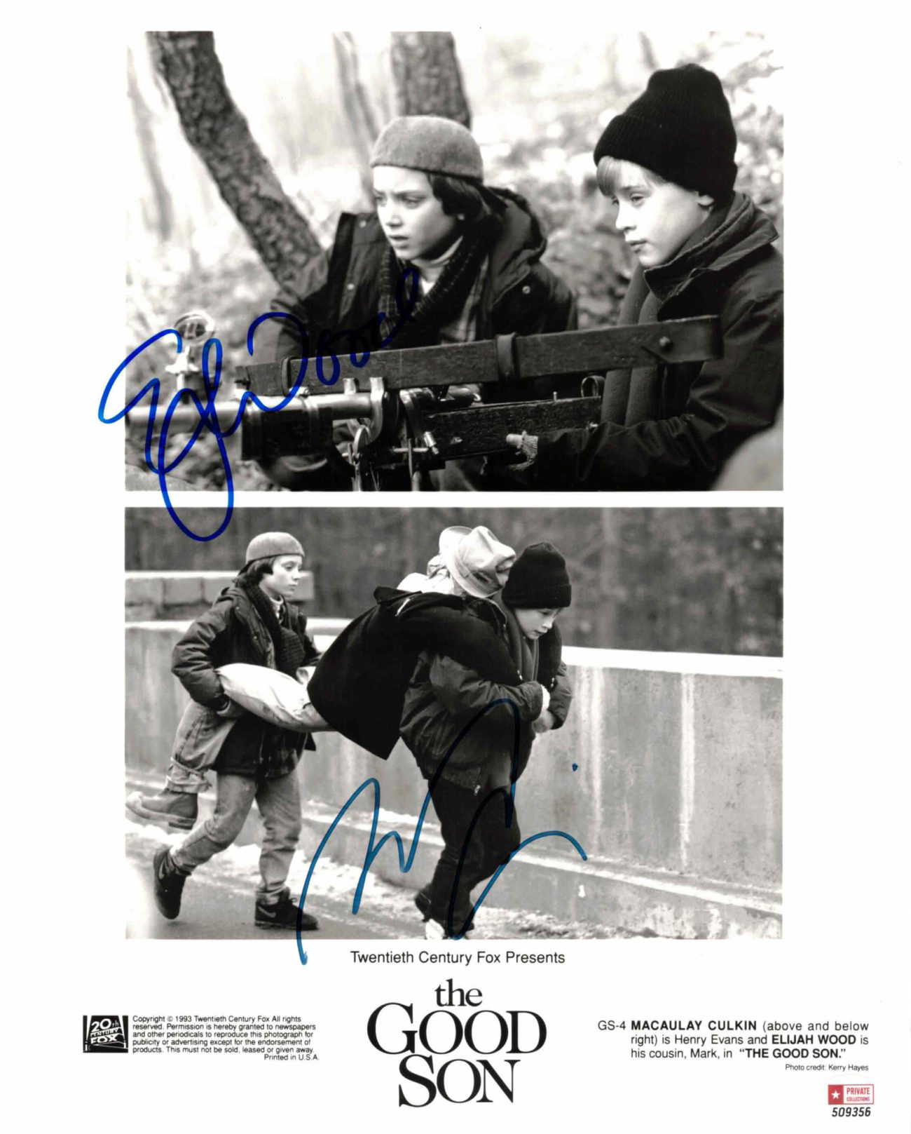 Elijah Wood & Macaulay Culkin - autogram