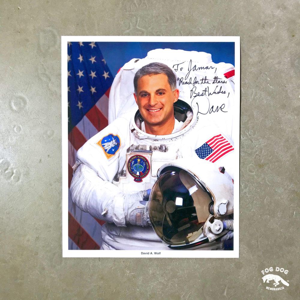 Autogram / astronaut David A. Wolf