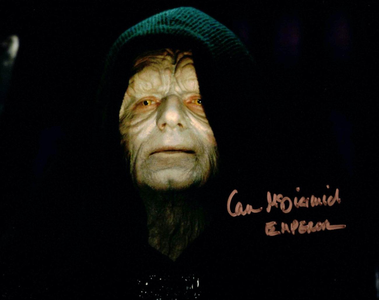 Ian McDiarmid / Palpatine, Star Wars - autogram