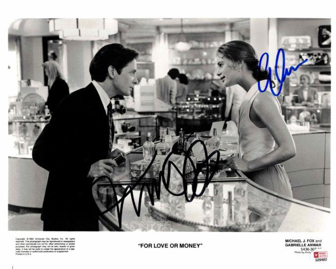 Michael J. Fox & Gabrielle Anwar - autogram