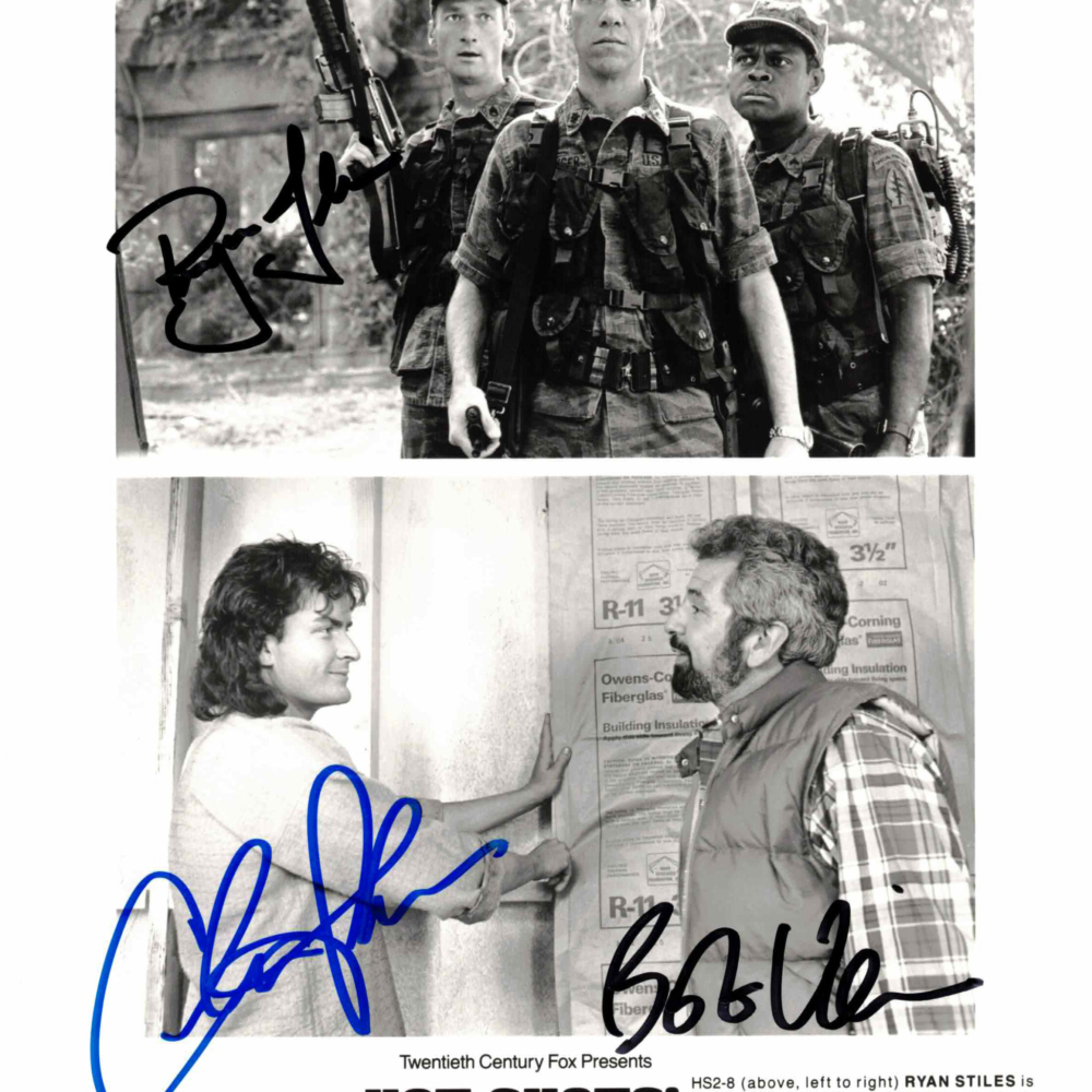 Charlie Sheen, Ryan Stiles & Bob Vila - autogram