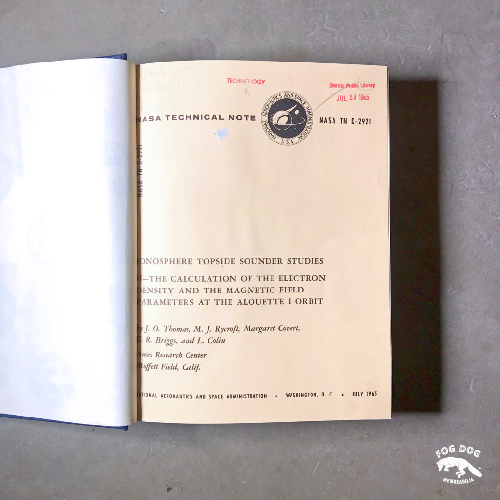 Kniha NASA Technical Note (1965)