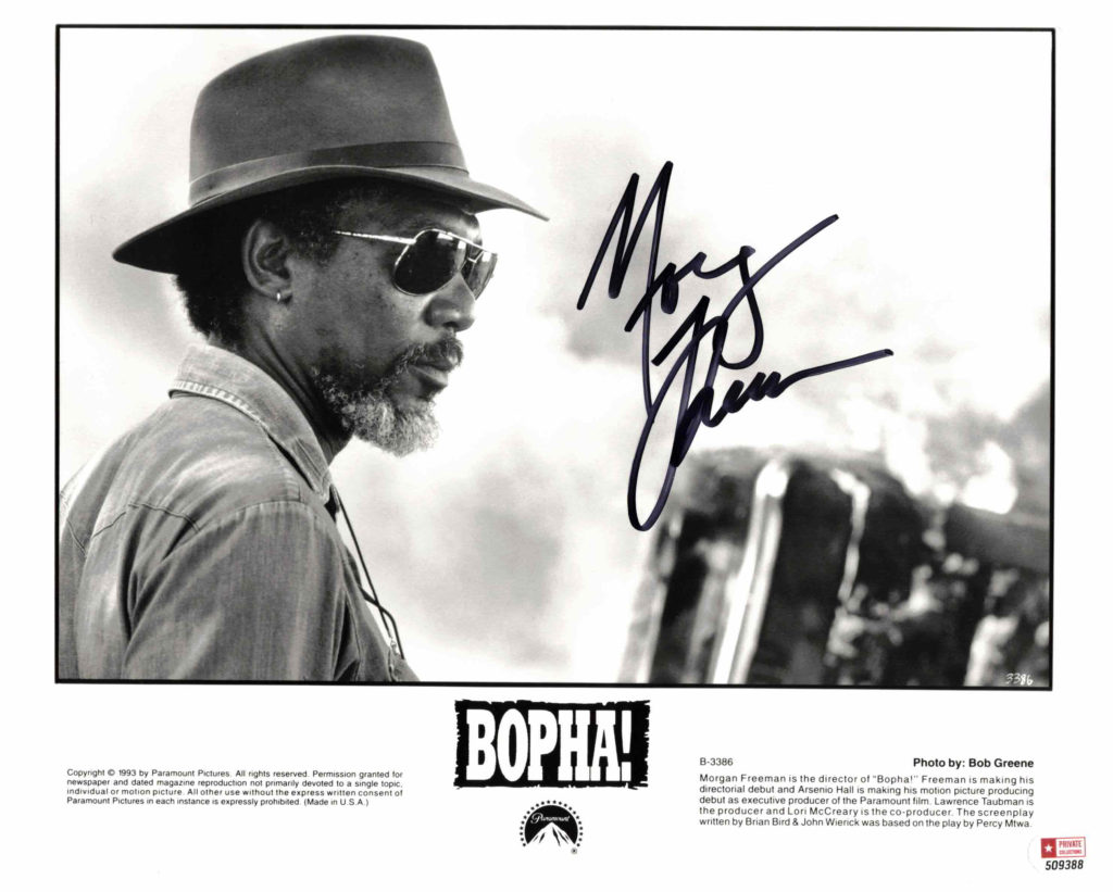 Morgan Freeman - autogram