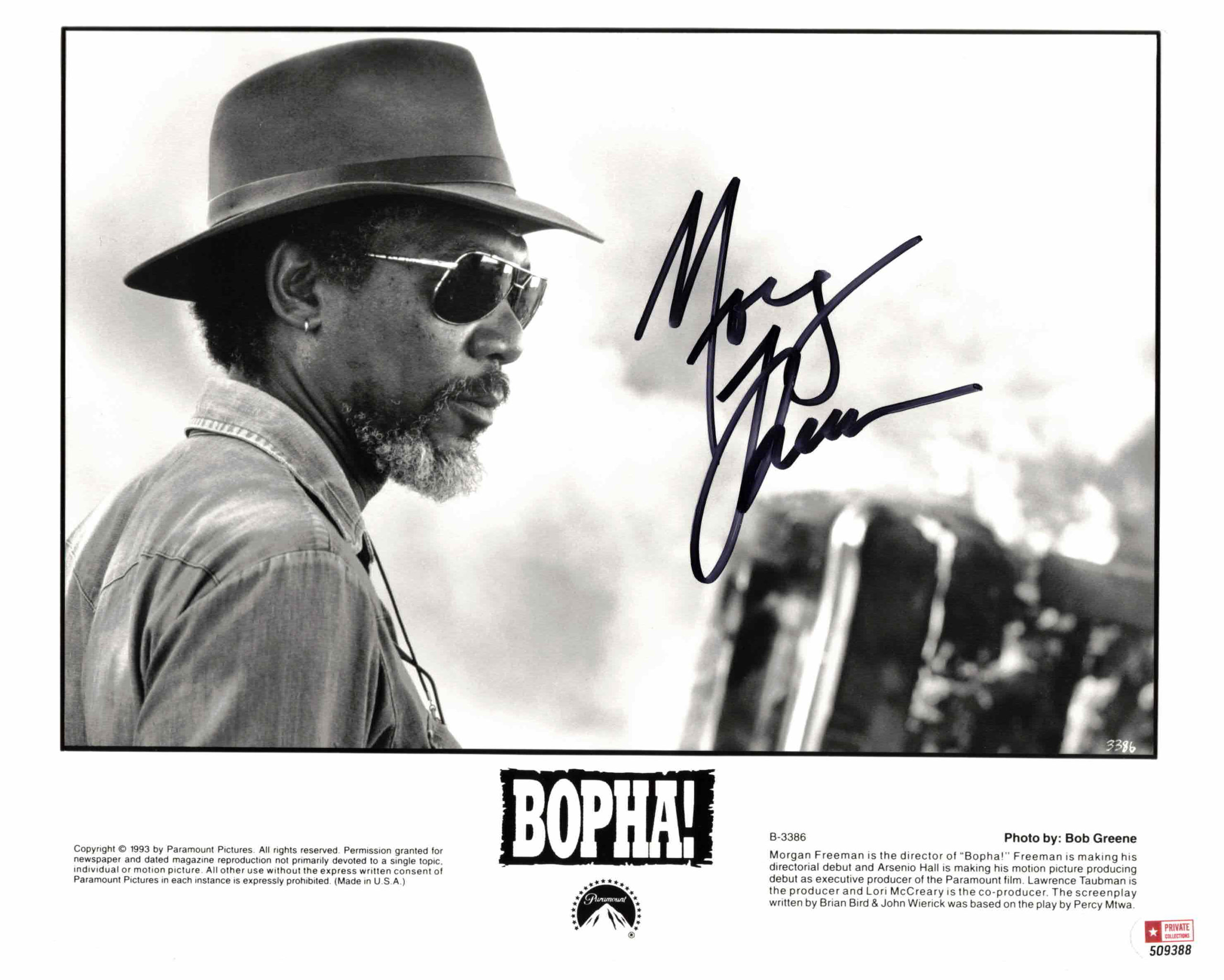 Morgan Freeman - autogram