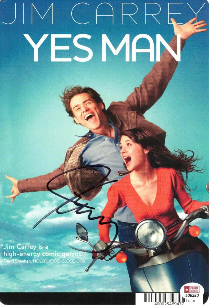 Jim Carrey / YES MAN - autogram