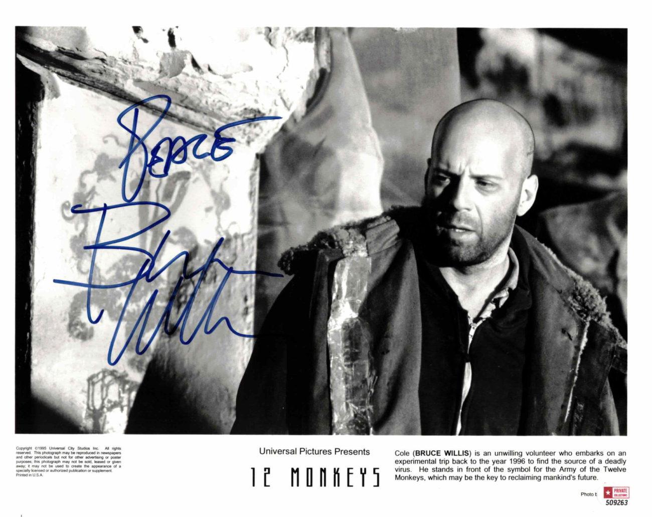 Bruce Willis - autogram
