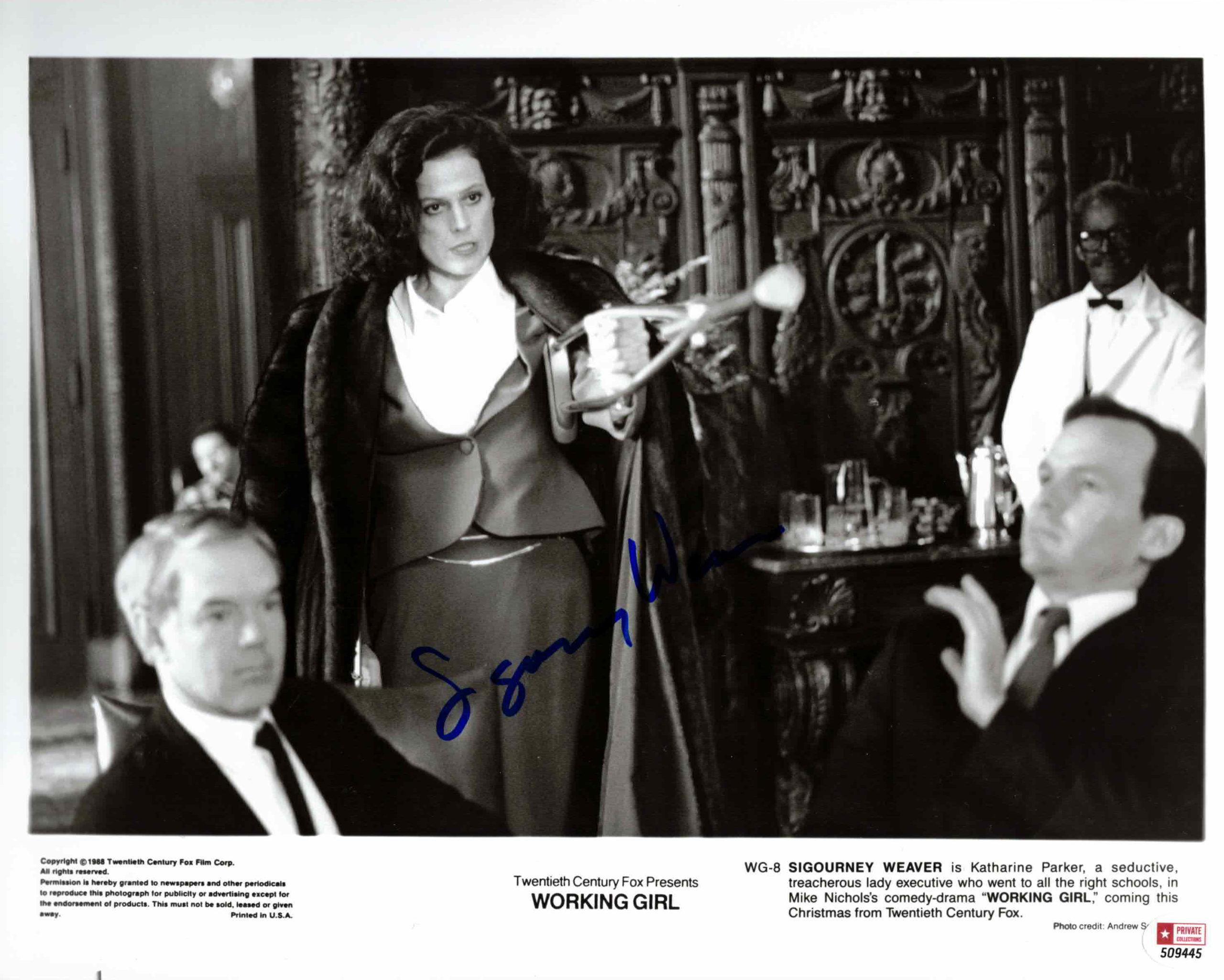 Sigourney Weave - autogram
