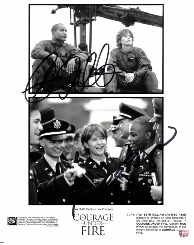 Meg Ryan & Seth Gilliam - autogram