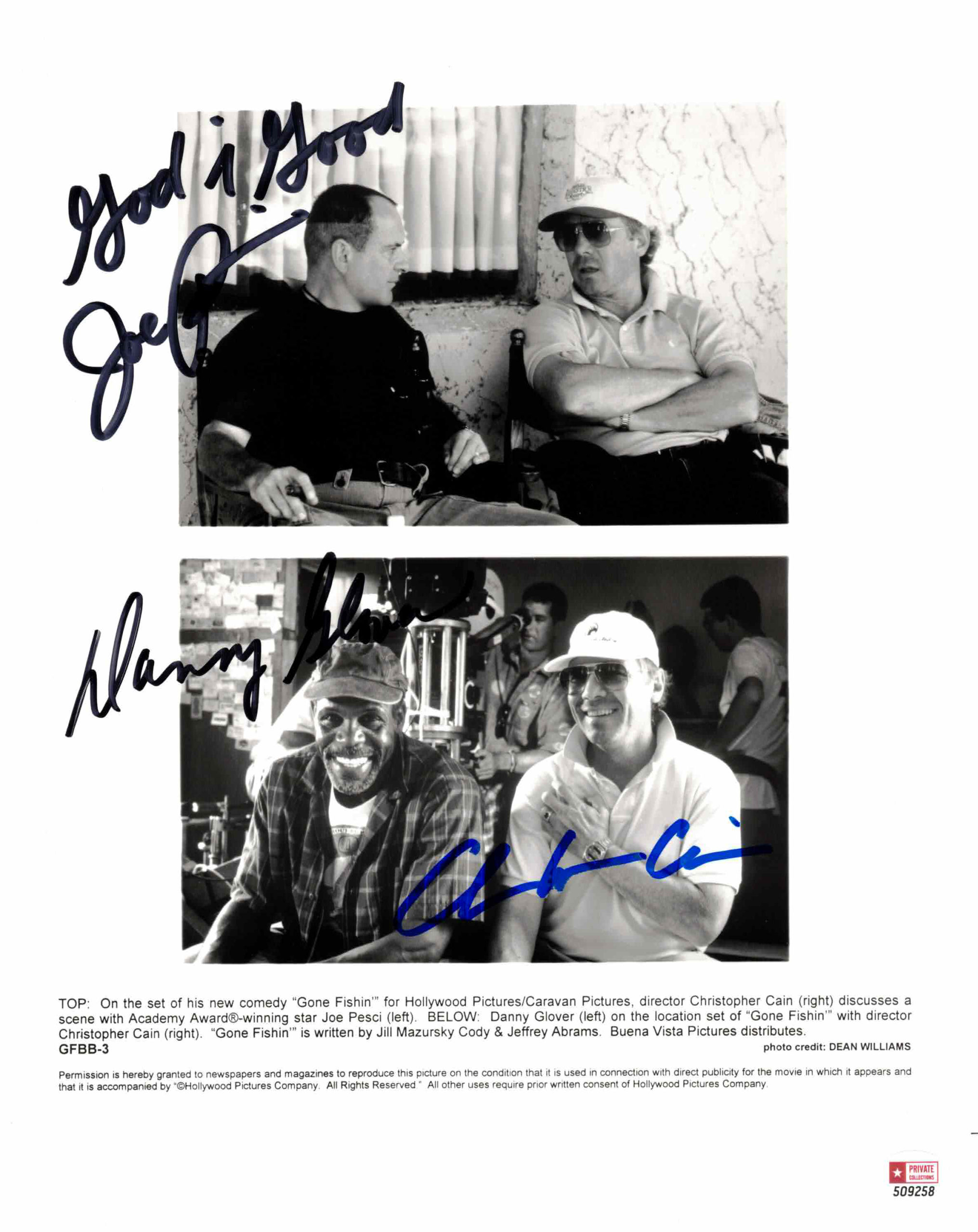 Danny Glover, Joe Pesci & Christopher Cain - autogram