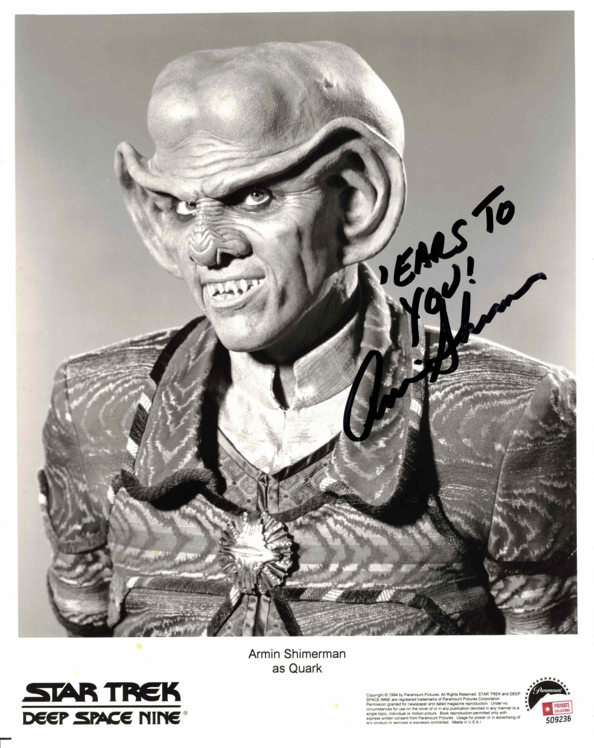 Armin Shimerman - autogram