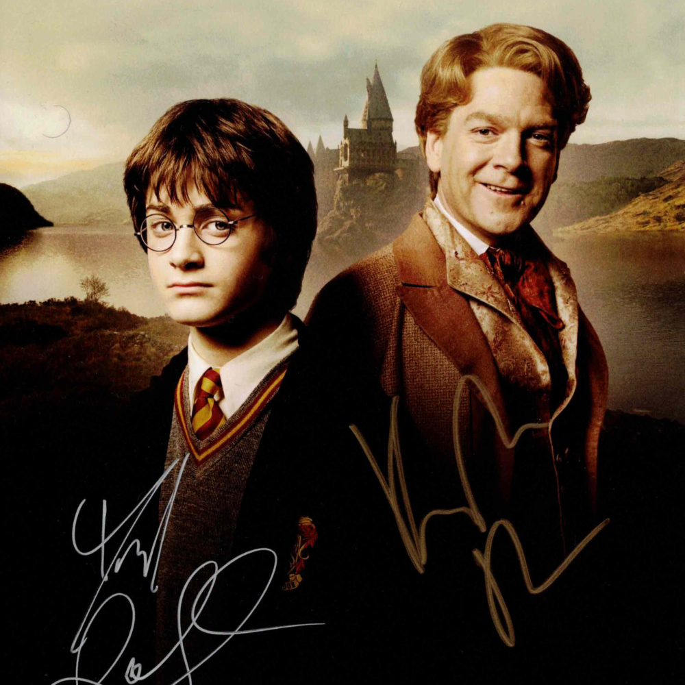 Daniel Radcliffe & Kenneth Branagh / Harry Potter - autogram