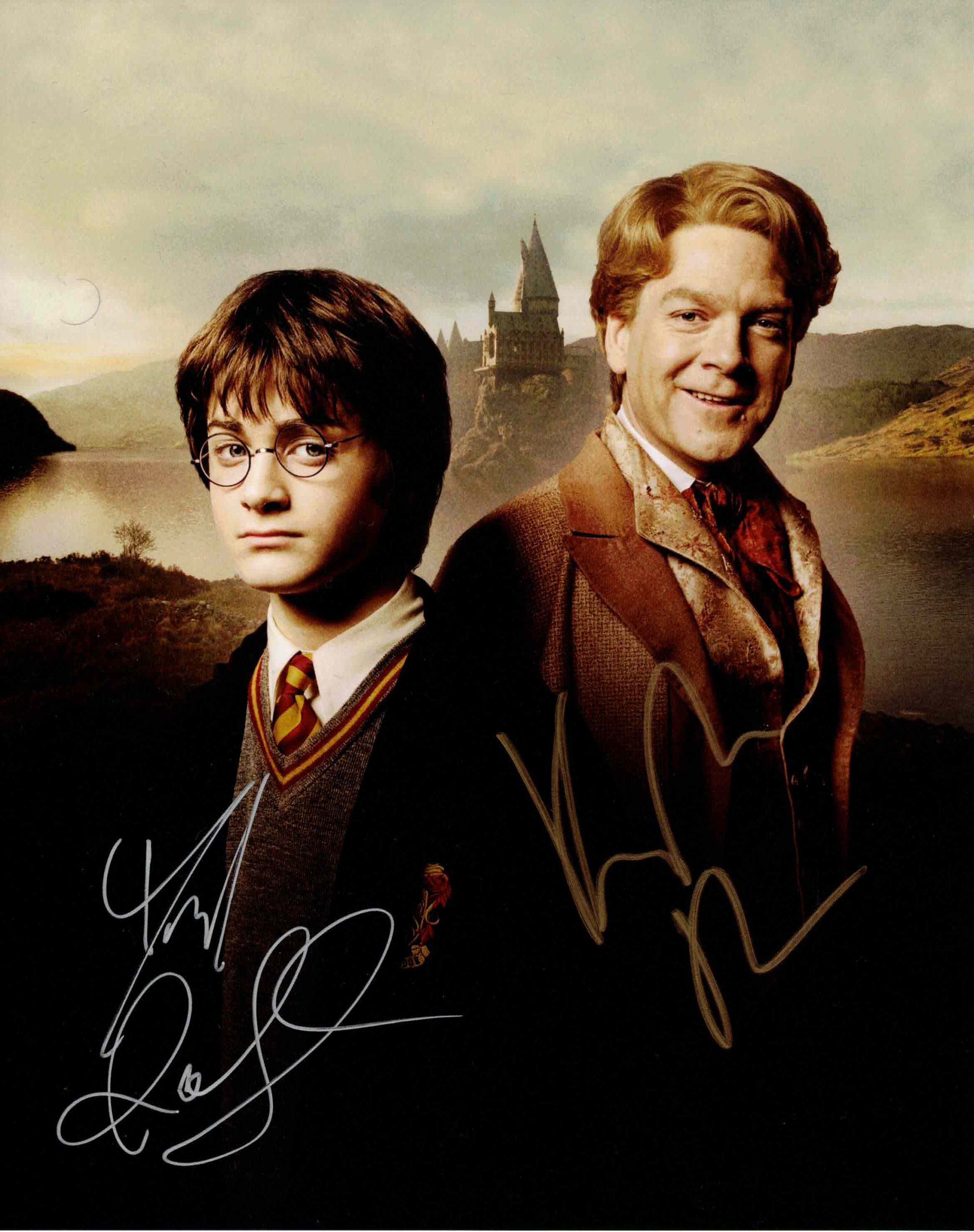 Daniel Radcliffe & Kenneth Branagh / Harry Potter - autogram